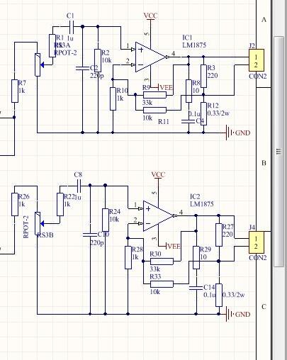 电源用 -25伏供电 前级电路是正常的后级功放出了点问题