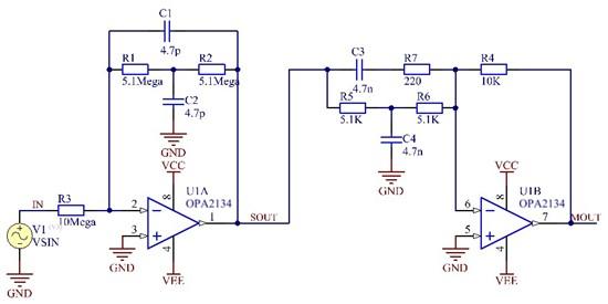 关于opa602电路噪声问题