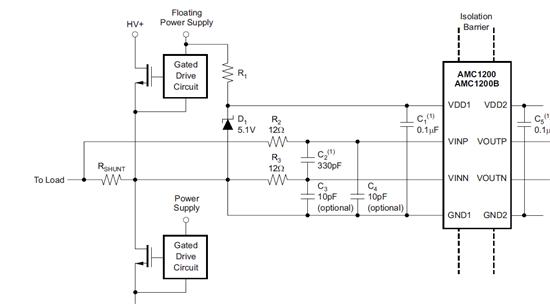 关于amc1200在电机驱动电路中使用的疑惑