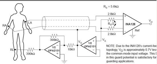 5~100hz的贝塞尔带通滤波器,加入15v的共模信号,测