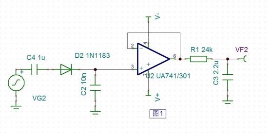 峰值检波电路 - 放大器