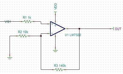 做电压放大,电路如下所示