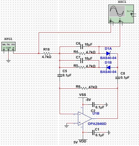 我设计一个运放检波电路