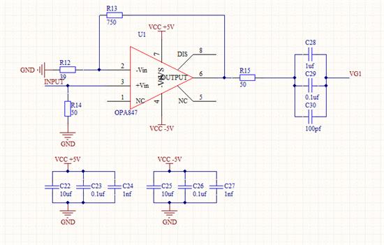 技术论坛 模拟与混合信号 放大器 opa847自激震荡问题  发表于2015-6
