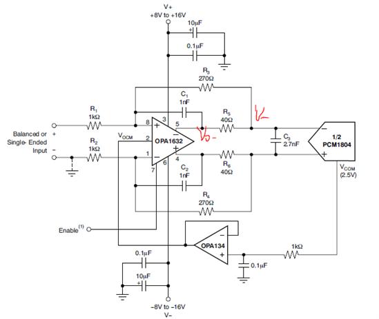 参考电路的传递函数