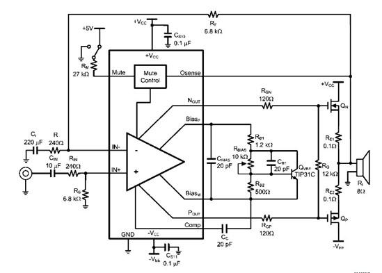 lme49830tb 功率放大器