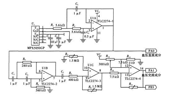 血压信号放大电路运放选型和电路设计