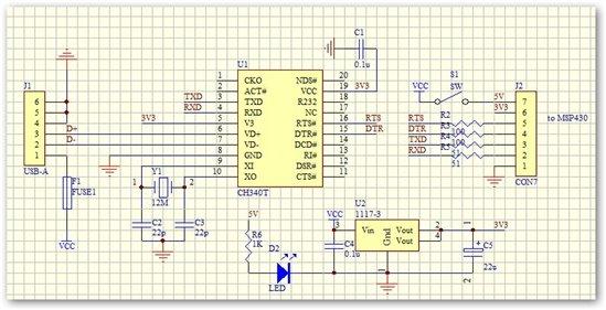 以上那个u转串ttl的电路能作为bsl下载器吗?