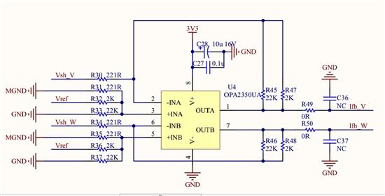adc采样电流运放是负反馈的