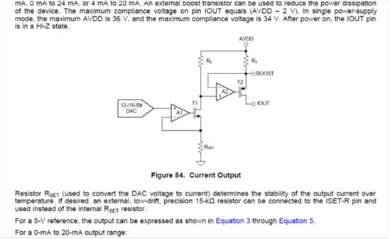 运算放大器与使用电压输出dac搭接上述电路的比较