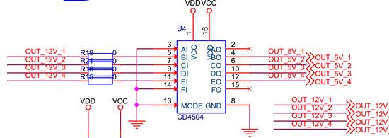 以产品用贵公司产品cd4504b设计一个信号采集的电路