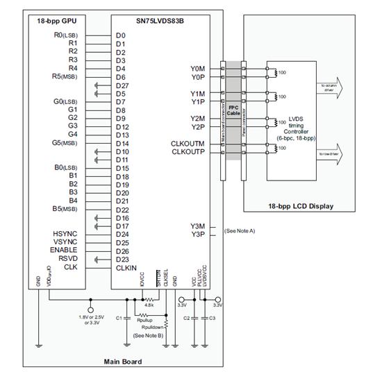 Схема подключения lvds83b микросхема