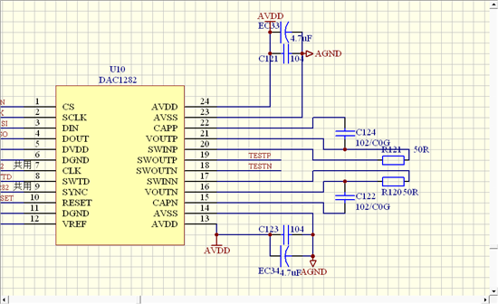 dac1282模式输出问题