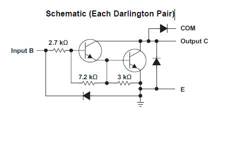 uln2803输入端接24v信号时