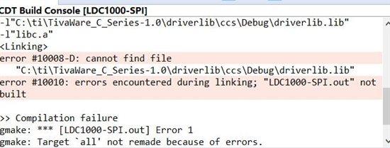 ccs6.0导入ldc1000例程出错