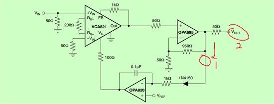 你好 请问一下具体是什么意思 我看学长他们做的板子高频输出到opa820他们都没有加50ohm匹配,但是他们的AGC电路可以测到110MHz左右 高频输出级联板子阻抗不匹配信号不是会造成信号反射什么的吗