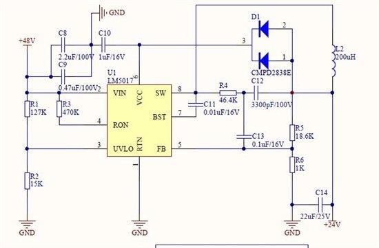 lm5017降压芯片输出电压过低