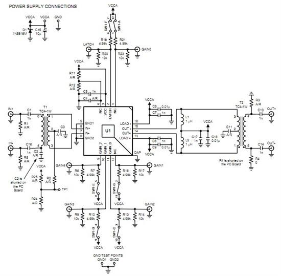 """放大器 关于""""差分信号""""输入输出的芯片采用单端输入"""