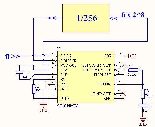 电路连接及参数如下图