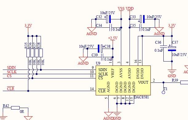dac8581只能输出几个特殊电压